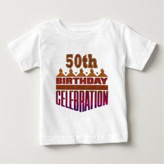 50.os regalos de cumpleaños de la celebración playeras