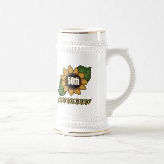 50.os regalos de cumpleaños del girasol jarra de cerveza
