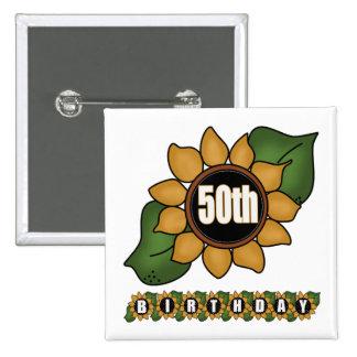 50 os regalos de cumpleaños del girasol pins