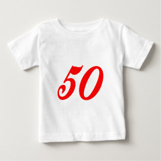 50.os regalos de cumpleaños del número cincuenta playera