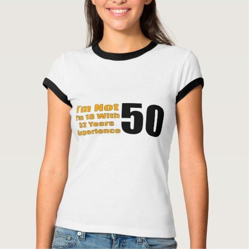 50.os regalos de cumpleaños experimentados de 18 playera