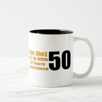 50.os regalos de cumpleaños experimentados de 18 taza de dos tonos
