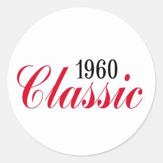 ¡50.os regalos de cumpleaños, obra clásica 1960! etiqueta redonda