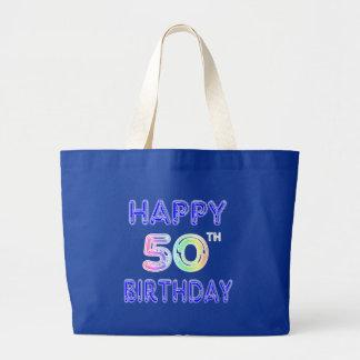 50.os regalos de cumpleaños y ropa felices del cum bolsa tela grande