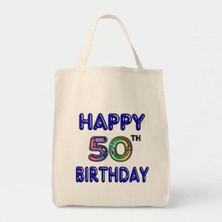 50.os regalos de cumpleaños y ropa felices del cum bolsa tela para la compra