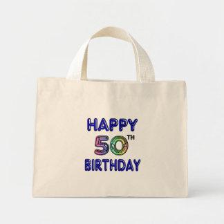 50.os regalos de cumpleaños y ropa felices del cum bolsa tela pequeña