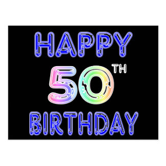 50.os regalos de cumpleaños y ropa felices del tarjetas postales