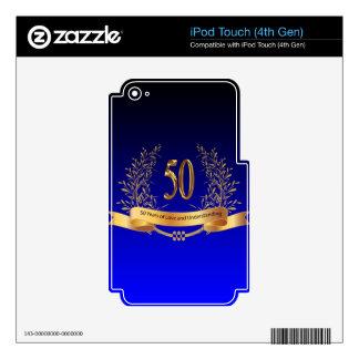 50.os regalos elegantes del aniversario de boda iPod touch 4G skin