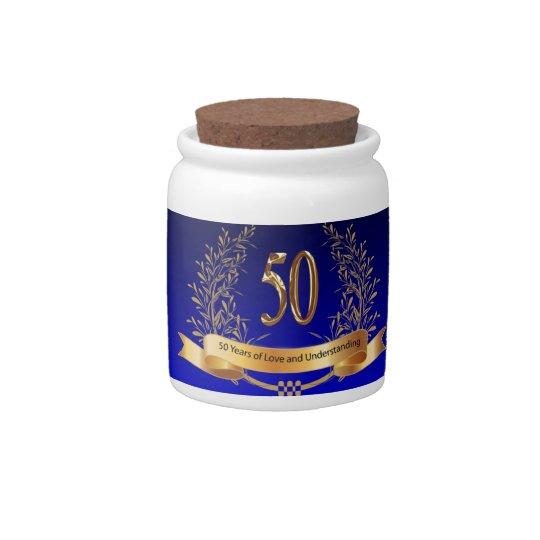 50.os regalos elegantes del aniversario de boda jarras para caramelos