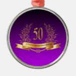 50.os regalos felices del aniversario de boda ornaments para arbol de navidad