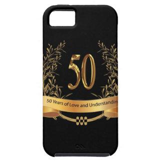 50.os regalos felices del aniversario de boda funda para iPhone SE/5/5s