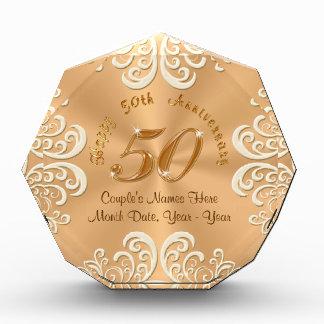 50.os regalos felices personalizados de oro del