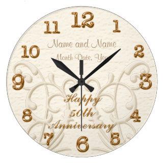 50.os regalos personalizados del aniversario para reloj redondo grande
