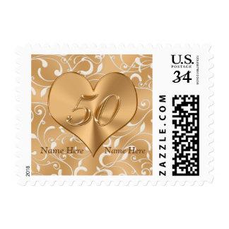 50.os sellos del aniversario de boda del