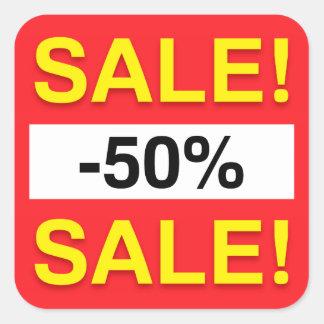 50 percent sale discount stickers