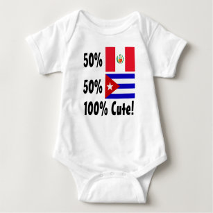 140d7067d75 50% Peruvian 50% Cuban 100% Cute Baby Bodysuit