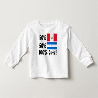 50% Peruvian 50% Nicaraguan 100% Cute Toddler T-shirt