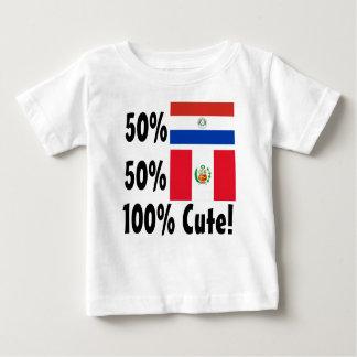 50% Peruvian 50% Paraguayan 100% Cute Baby T-Shirt