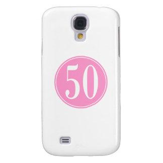 #50 Pink Circle Galaxy S4 Case