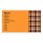 50 Plaid Pattern Double-Sided Standard Business Cards (Pack Of 100)