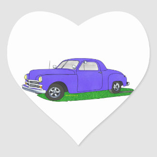50 Plymouth Business coupe Heart Sticker