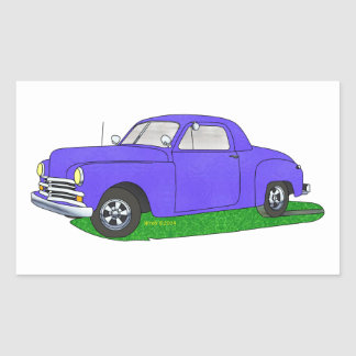 50 Plymouth Business coupe Rectangular Sticker