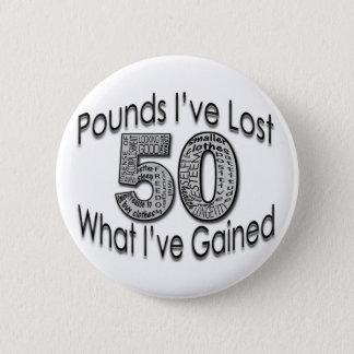 50 Pounds Lost Button