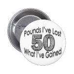50 Pounds Lost Button