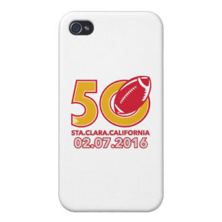 50 Pro Football Championship Santa Clara Cases For iPhone 4