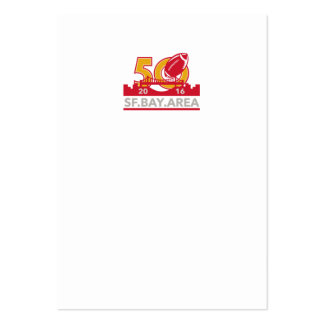 50 Pro Football Championship SF Bay Area 2016 Large Business Card