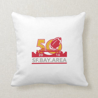 50 Pro Football Championship SF Bay Area 2016 Pillow