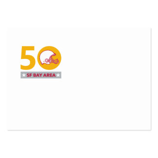 50 Pro Football Championship SF Bay Area Large Business Card