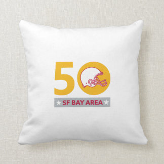50 Pro Football Championship SF Bay Area Throw Pillow