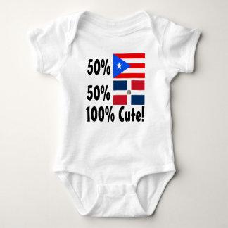50% Puerto Rican 50% Dominican 100% Cute T-shirt