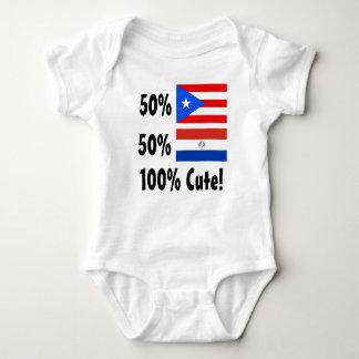 50% Puerto Rican 50% Paraguayan 100% Cute Baby Bodysuit