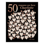 50 Reasons We Love You Gift - 50th Birthday Poster