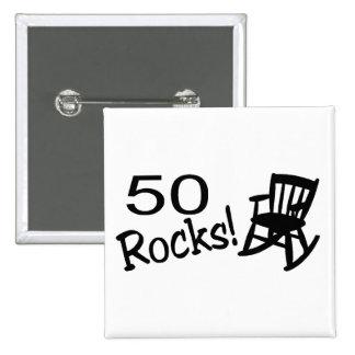 50 rocas (eje de balancín) pins