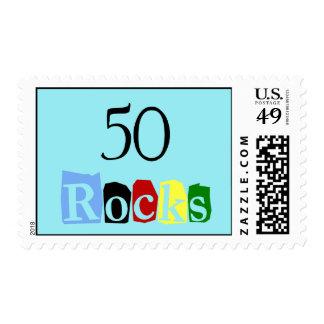 50 rocas estampilla