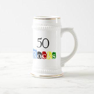 50 rocas jarra de cerveza