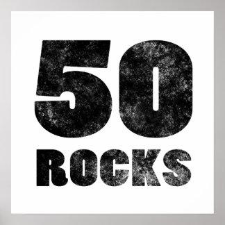 50 rocas póster