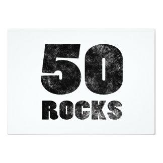 50 Rocks 5x7 Paper Invitation Card