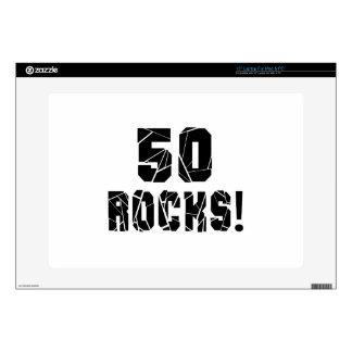 "50 Rocks Birthday Designs 15"" Laptop Decal"