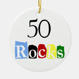 50 Rocks Ceramic Ornament