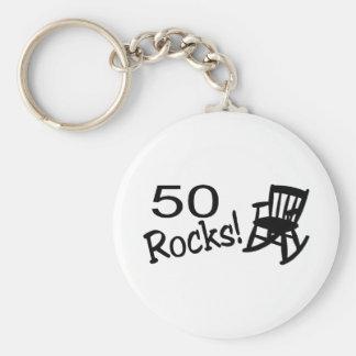 50 Rocks (Rocker) Basic Round Button Keychain