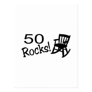 50 Rocks (Rocker) Postcard
