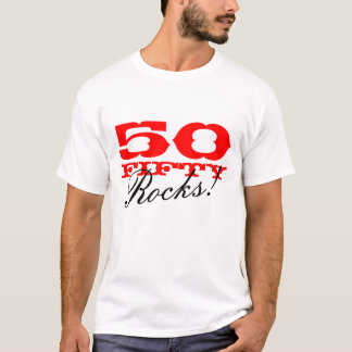 50 Rocks! t shirt for 50th Birthday party