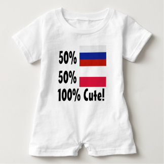 50% Russian 50% Polish 100% Cute Baby Romper