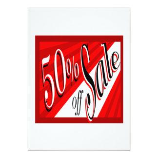 50% Sale 5x7 Paper Invitation Card