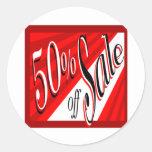50% Sale Round Sticker