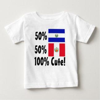 50% Salvadorian 50% Peruvian 100% Cute Baby T-Shirt